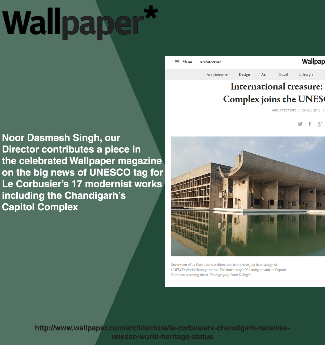 UNESCO, Chandigarh, NOOR Architects Consultants,wallpaper magazine ,wallpaper article,Capitol complex